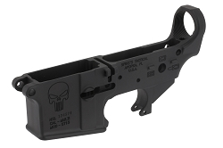 SPIKES TACTICAL PUNISHER STRIPPED LOWER-MULTI CALIBER-BULLET MARKINGS