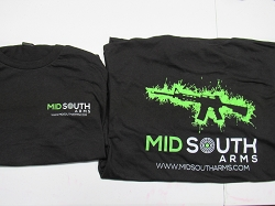 Mid South Arms Tee Shirt Large Black