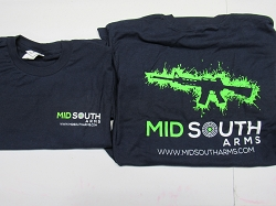 Mid South Arms Tee Shirt Large Navy Blue